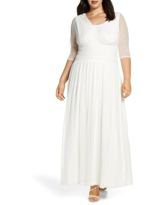 Plus Size Women's Kiyonna Meant To Be Chic Gown, Size 4X - Ivory