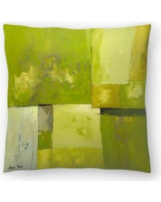 "East Urban Home Hans Paus Abstract 14 Throw Pillow EBIC1087 Size: 14"" H x 14"" W x 1.5"" D"