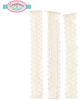 White Crocheted Lace Headbands