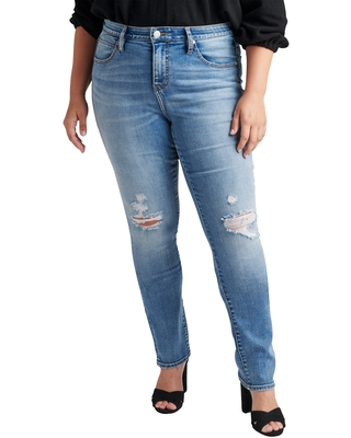 Jag Jeans Ruby Straight Leg Jeans, Size 16W in New Orleans at Nordstrom