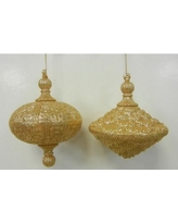 Queens of Christmas Oval Drop Ornament WL-OVDROP-2PK Color: Gold