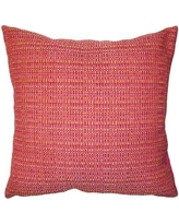 "Square Feathers Rainbow Plaid Pillow rainplai Size: 12"" x 24"""