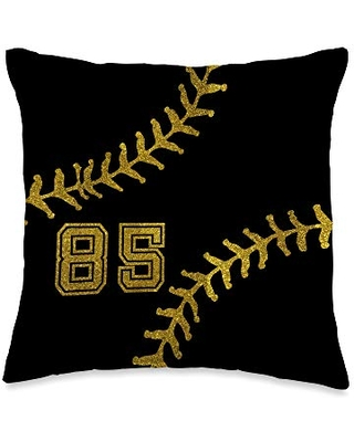 Softball Player Accessories Home Decoration Gifts Baseball Softball Player Jersey No 85 Cool Gadget Gift Throw Pillow, 16x16, Multicolor