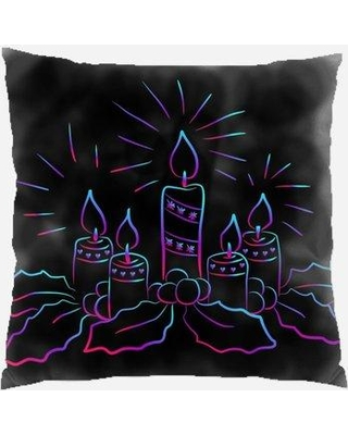 The Holiday Aisle Fordland Advent Wreath Indoor/Outdoor Canvas Throw Pillow W000305392