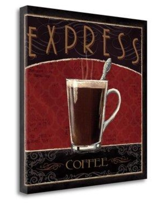 """Tangletown Fine Art 'Coffee Shop IV' by Marco Fabiano Vintage Advertisement on Wrapped Canvas WA614356-2020c Size: 24"""" H x 24"""" W"""