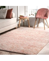 Rugs USA Pink Barnaby Vintage Moroccan rug - Transitional Rectangle 5' x 8'