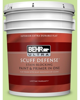 BEHR ULTRA 5 gal. #420A-3 Key Lime Extra Durable Flat Interior Paint & Primer