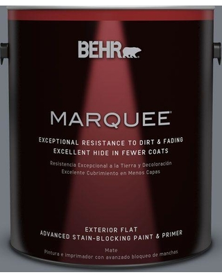BEHR MARQUEE 1 gal. #N510-5 Liquid Mercury color Flat Exterior Paint and Primer in One