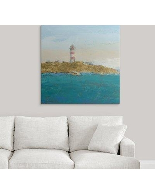 """Great Big Canvas 'Lighthouse Seascape I' by James Wiens Painting Print 2417293_1 Size: 35"""" H x 35"""" W x 1.5"""" D Format: Canvas"""