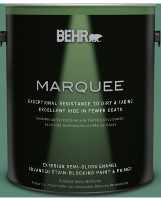 BEHR MARQUEE 1 gal. #MQ6-43 Dark Jade Semi-Gloss Enamel Exterior Paint and Primer in One