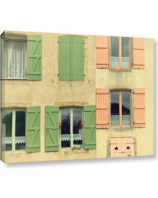 """Latitude Run French Façade 1 Painting Print on Wrapped Canvas LTRN5444 Size: 36"""" H x 48"""" W x 2"""" D"""