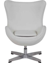 """Mistana™ Baby & Kids Jetson Kids Chair, Polyurethane/Upholstered in White, Size 26""""H X 20""""W X 19""""D 