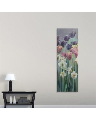 "Great Big Canvas 'Grape Tulips Panel II' by Marilyn Hageman Painting Print 2276181_ Size: 72"" H x 24"" W x 1.5"" D Format: Canvas"