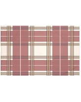 "Darby Home Co Burton Plaid Print Throw Blanket DRBC6018 Size: 60"" L x 50"" W, Color: Mahogany (Taupe/Rust)"