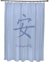 Bloomsbury Market Chantilly Tranquility Print Shower Curtain BBMT7587 Color: Blue