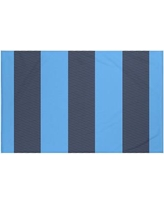 "Breakwater Bay Hibiscus Stripes Print Throw Blanket BRWT6006 Size: 60"" L x 50"" W, Color: Azure (Navy Blue/Blue)"