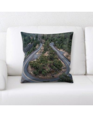 Latitude Run Idora A Road to Many Places Throw Pillow BF135213
