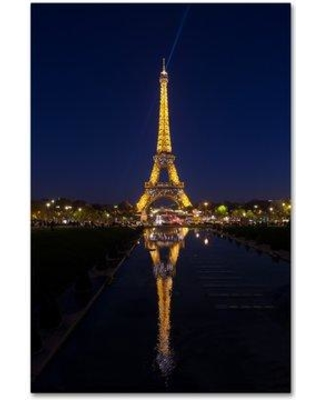 "Trademark Art 'Eiffel Tower 9' Photographic Print on Wrapped Canvas ALI19459-C Size: 19"" H x 12"" W"