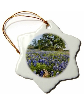 Texas Flowers in Bloom, Central Texas, USA Snowflake Holiday Shaped Ornament