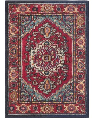 """Arianna Red/Turquoise Area Rug Bungalow Rose Rug Size: Rectangle 2'3"""" x 3'11"""""""