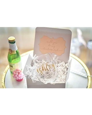Bridesmaid Proposal Wine Glass Maid of Honor Gift
