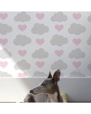 Aimee Wilder Designs Diorama 15' x 27'' Loveclouds Wallpaper (Set of 2) WLC Color: Illusion