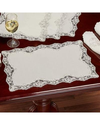 Evangelina Placemats Ivory Set of Four, Set of Four, Ivory