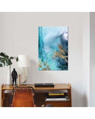 "East Urban Home Gold Under The Sea I Print On Canvas EBHS2668 Size: 18"" H x 12"" W x 0.75"" D"