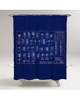 Williston Forge Haden Happy Hour Specs Shower Curtain BI036935