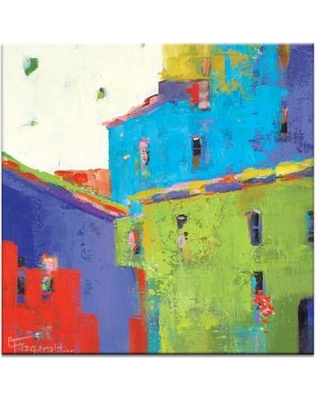 """Artist Lane Word of Mouth by Catherine Fitzgerald Painting Print on Wrapped Canvas 58CF - P26 Size: 40"""" H x 40"""" W x 1.5"""" D"""