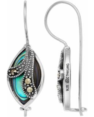 90a5d1ad4 Tori Hill Sterling Silver Marcasite & Abalone Drop Earrings, Women's, Green