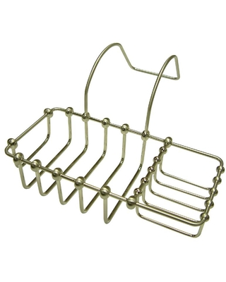 Kingston Brass Soap and Sponge Claw Foot Bathtub Caddy in Brushed Nickel