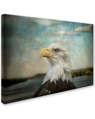 """Trademark Art 'The Overseer' Graphic Art Print on Wrapped Canvas ALI13987-C Size: 14"""" H x 19"""" W"""