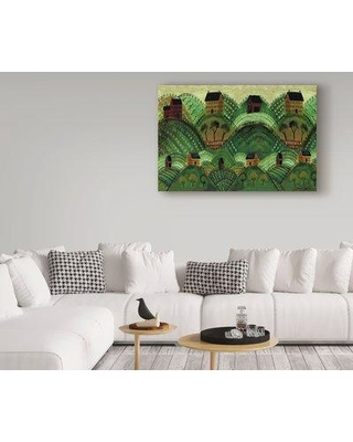 """Winston Porter 'Rolling Country Hills' Acrylic Painting Print on Wrapped Canvas WNPO2406 Size: 16"""" H x 24"""" W x 2"""" D"""
