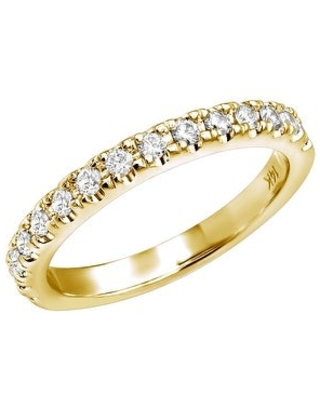 Unique Diamond Engagement Ring 0.27ctw in 14k Gold by Luxurman (Yellow - 8.5)