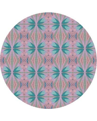 East Urban Home Patterned Pink/Blue Area Rug X112572751 Rug Size: Rectangle 2' x 3'