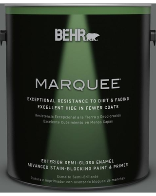 BEHR MARQUEE 1 gal. #PPU25-03 Shadows Semi-Gloss Enamel Exterior Paint and Primer in One