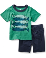 Tea Collection Fish School Baby Outfit