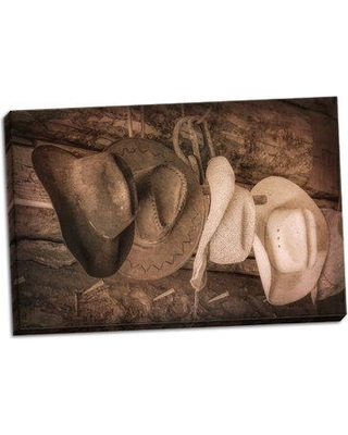 Millwood Pines 'Cowboy Hats' Photographic Print on Wrapped Canvas BF053206