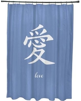 Bloomsbury Market Chantilly Love Print Shower Curtain BBMT7582 Color: Blue