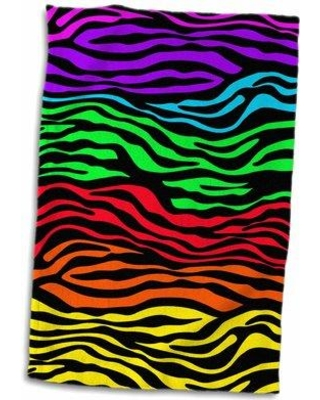 East Urban Home Diego Zebra Hand Towel W000098367 Color: Green/Red