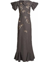 Isabel Embroidered Dress - Gray - The Attico Dresses