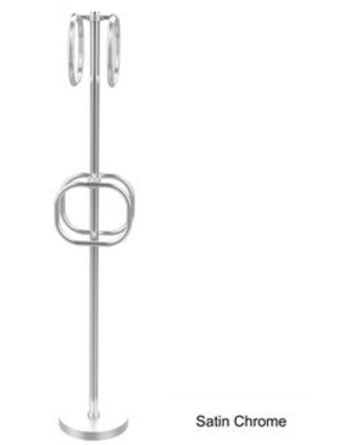 Allied Brass Towel Stand with Integrated Towel Rings