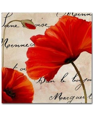 """Trademark Art 'Coquelicots Rouge II' by Color Bakery Graphic Art on Wrapped Canvas ALI4362-C Size: 35"""" H x 35"""" W x 2"""" D"""