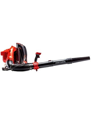 CRAFTSMAN CMXGAAMR51BP 51cc 2-Cycle Gas Powered Backpack Leaf Blower - Gasoline Blower for Lawn Care with Lightweight Backpack, Liberty Red