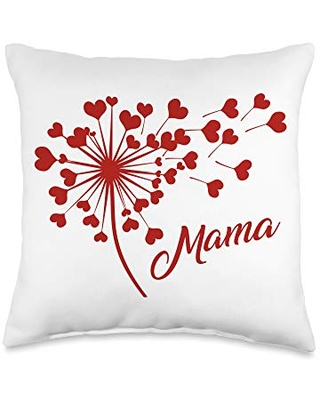 Mothers Day Tees by JuinToJuly Co. Mama Bestie Mommy and Me Matching Mother's Day Daughter Set Throw Pillow, 16x16, Multicolor
