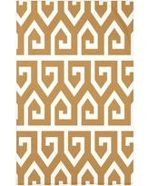 "Ivy Bronx Dree Keyed Up Geometric Print Throw Blanket IVYB5337 Size: 50"" H x 60"" W x 0.5"" D, Color: Gold"