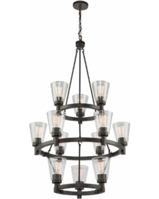 Artcraft Clarence 29 Inch 12 Light Chandelier - AC10762OB