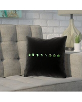 """Brayden Studio Enciso Moon Phase Pillow Cover BYST5877 Size: 14"""" x 14"""", Color: Green"""