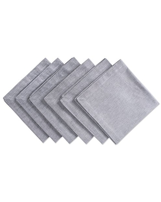 DII 100% Cotton Chambray Kitchen Tabletop Collection, Napkin, Gray 6 Count